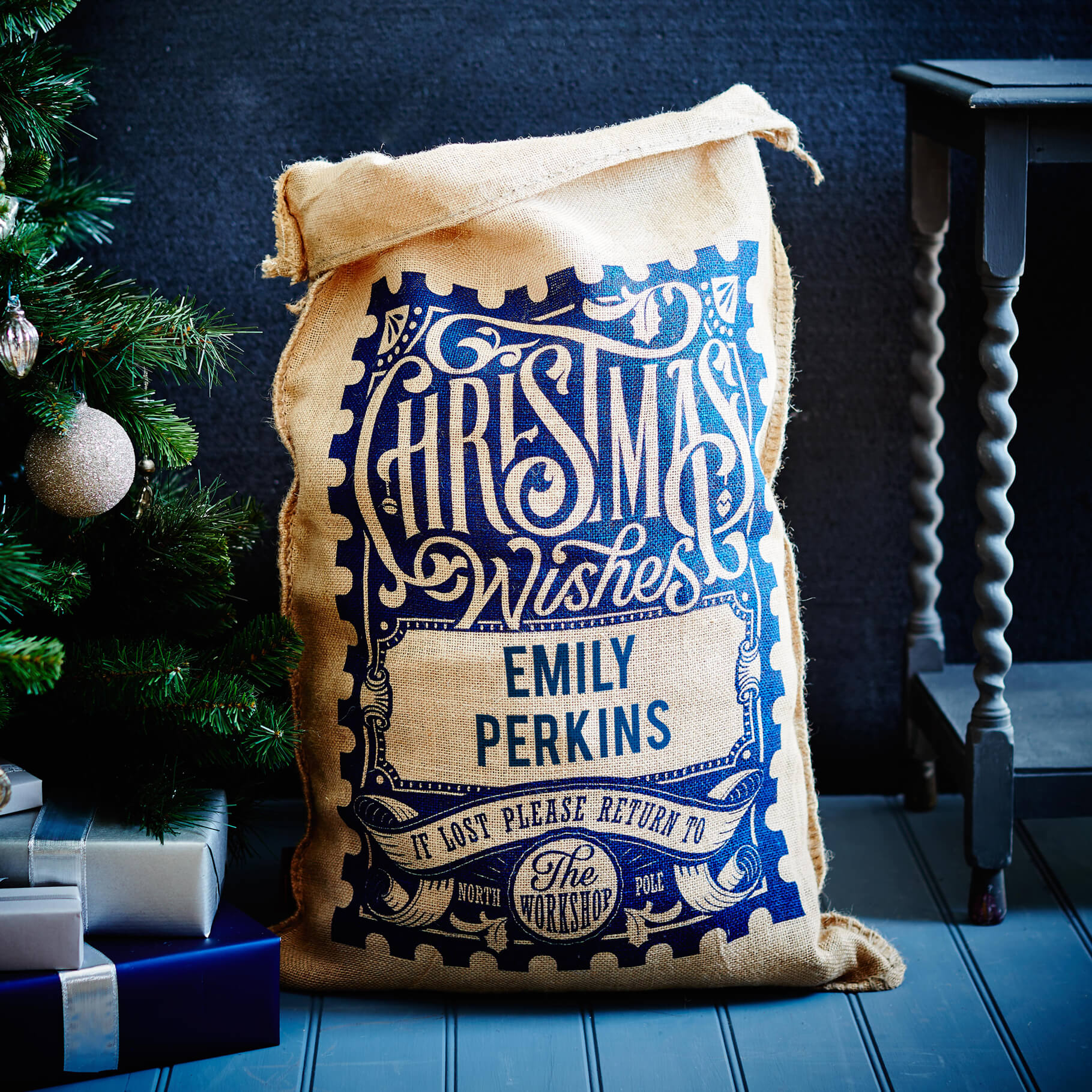 The Blue Rowland Christmas Sack