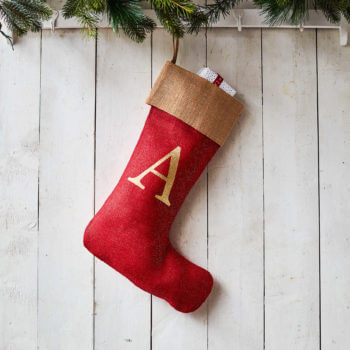 Ready to Dispatch Handmade Personalised /'S/' Christmas Stocking LARGE