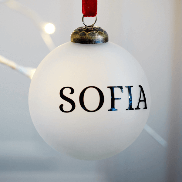 Personalised Frosted Bauble - £15.00