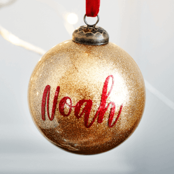 Personalised Glitter Gold Bauble - £15.00