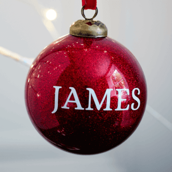 Personalised Glitter Red Bauble - £15.00