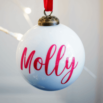 Personalised Gloss White Bauble - £15.00