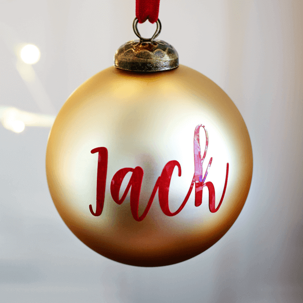 Personalised Matt Gold Bauble - £15.00