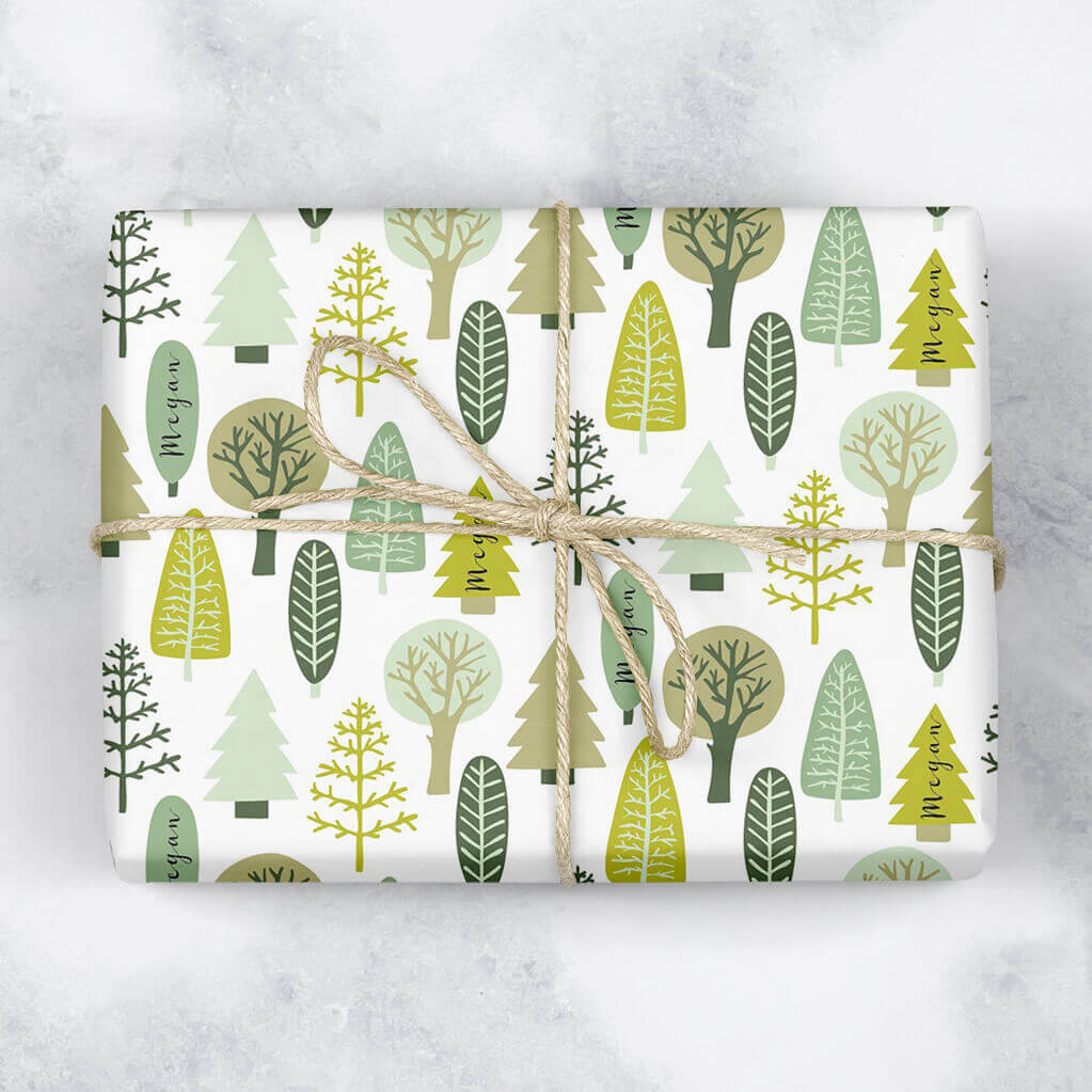 Festive Forest Personalised Gift Wrap