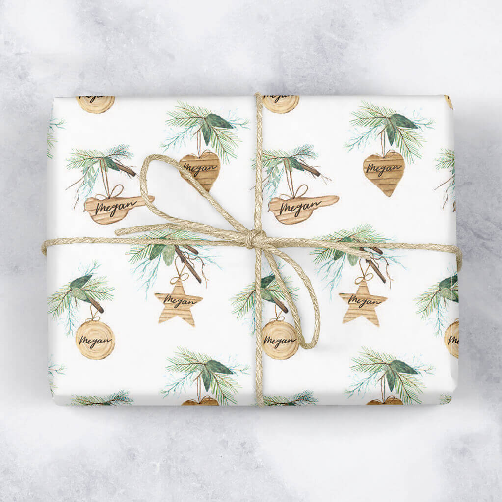 Natural Baubles Personalised Gift Wrap