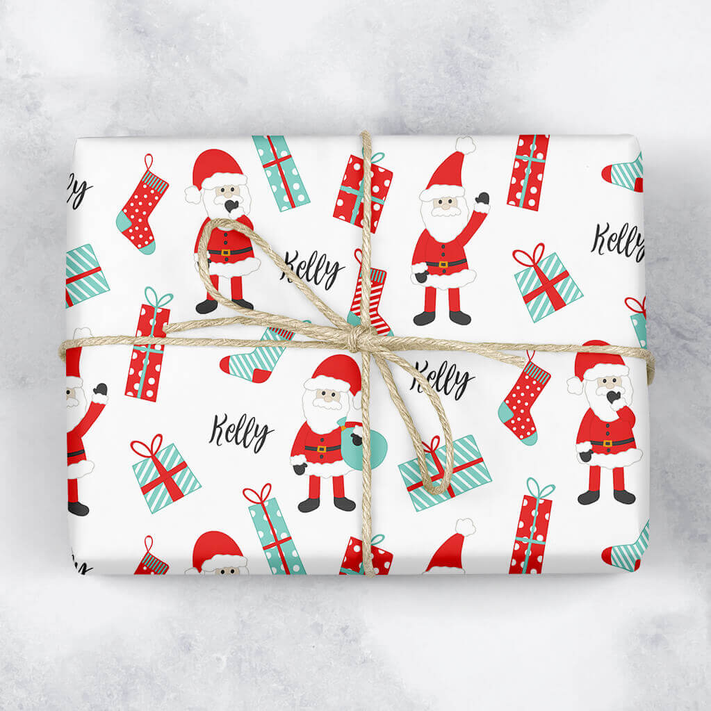 Santa Presents Personalised Gift Wrap