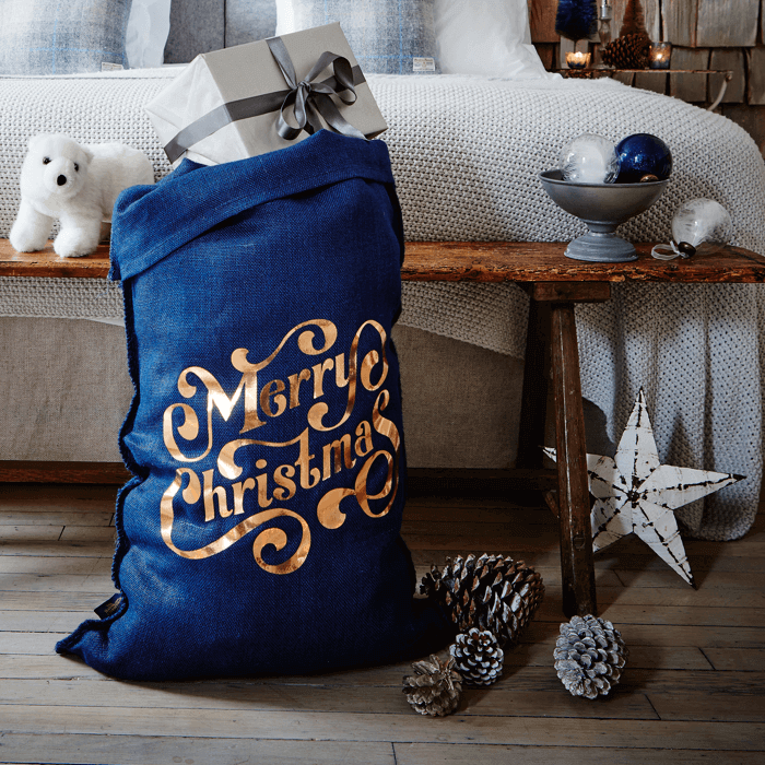 The Navy Foil Spenser Christmas Sack