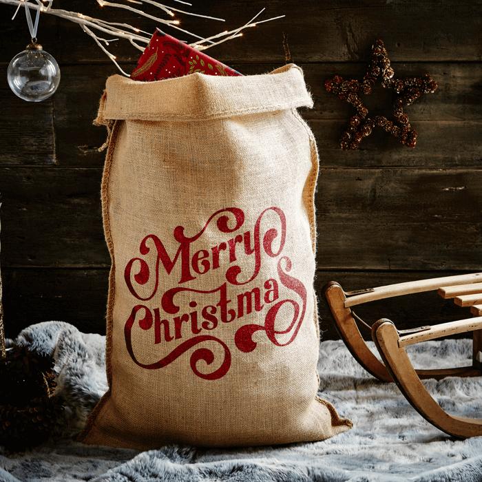 The Natural Glitter Spenser Christmas Sack