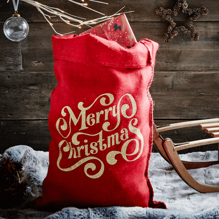 The Red Glitter Spenser Christmas Sack