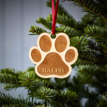 Pet Paw Wooden Decoration