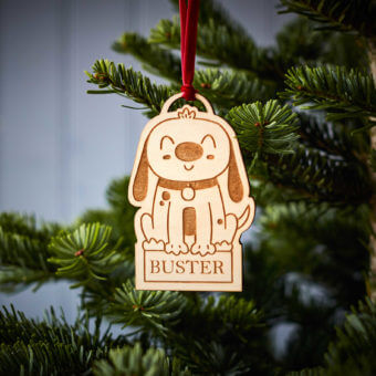 Dog Wooden Decoration