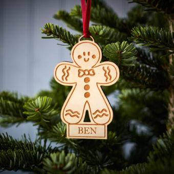 Gingerbread Man Wooden Decoration