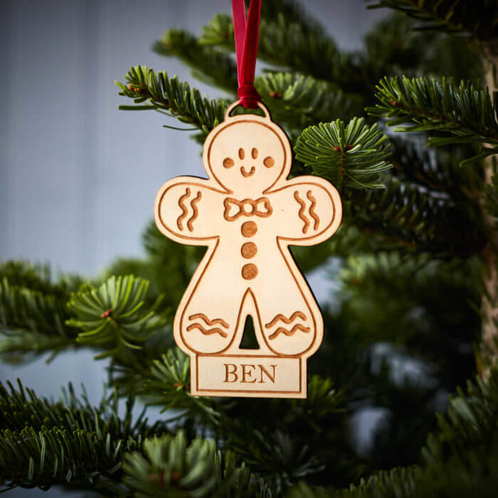 Gingerbread Man Wooden Decoration