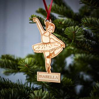 Ballerina Wooden Decoration