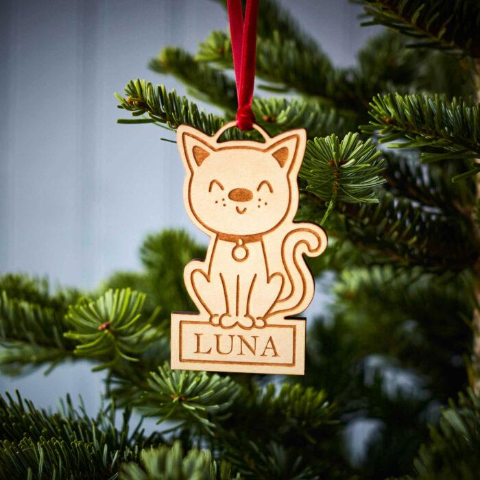 Cat Wooden Decoration