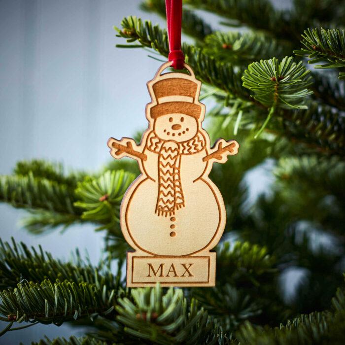 Snowman Wooden Decoration