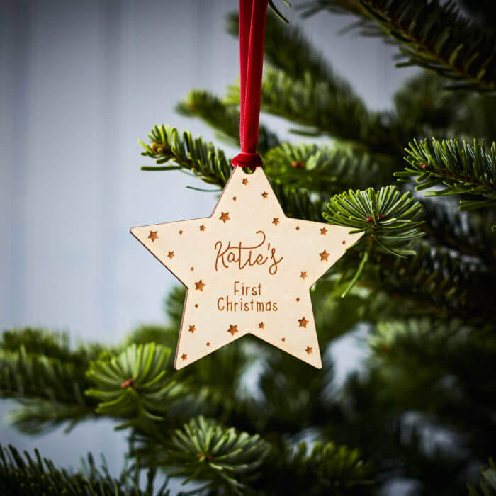 Baby's First Christmas Wooden Decoration