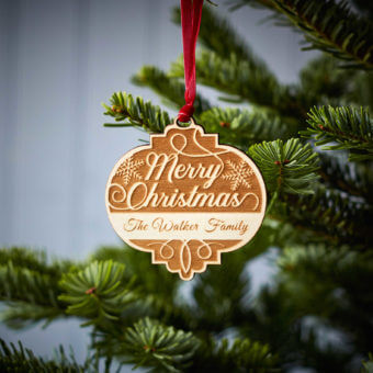Merry Christmas Wooden Decoration