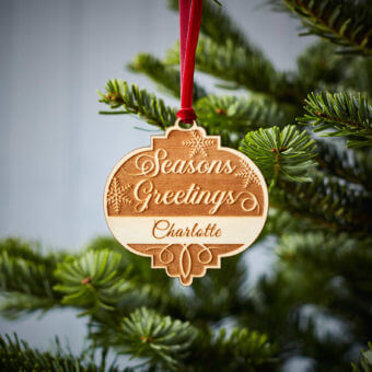 Seasons Greetings Wooden Decoration