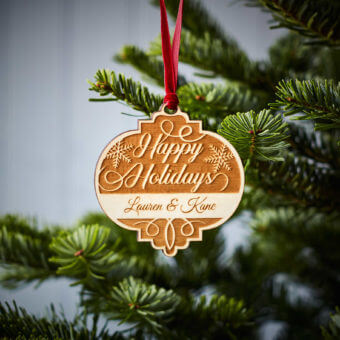 Happy Holidays Wooden Decoration