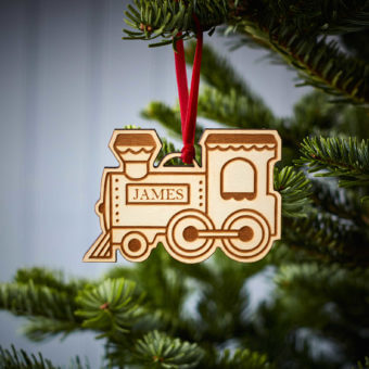 Steam Train Wooden Decoration