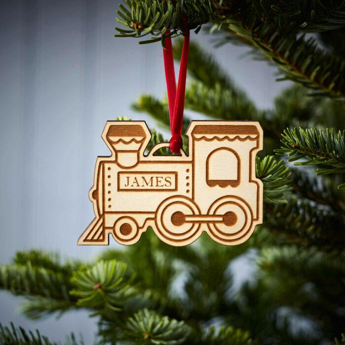 Steam Train Wooden Decoration