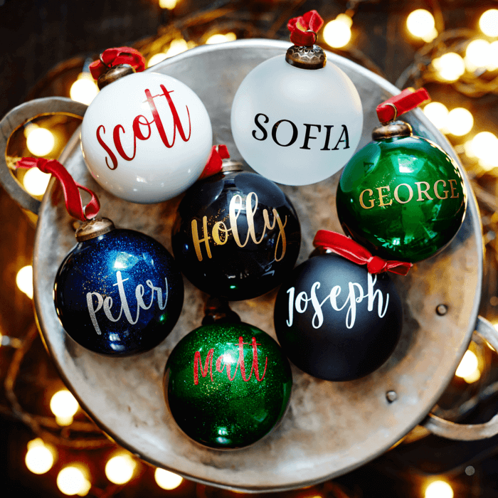 Frosted Personalised Bauble