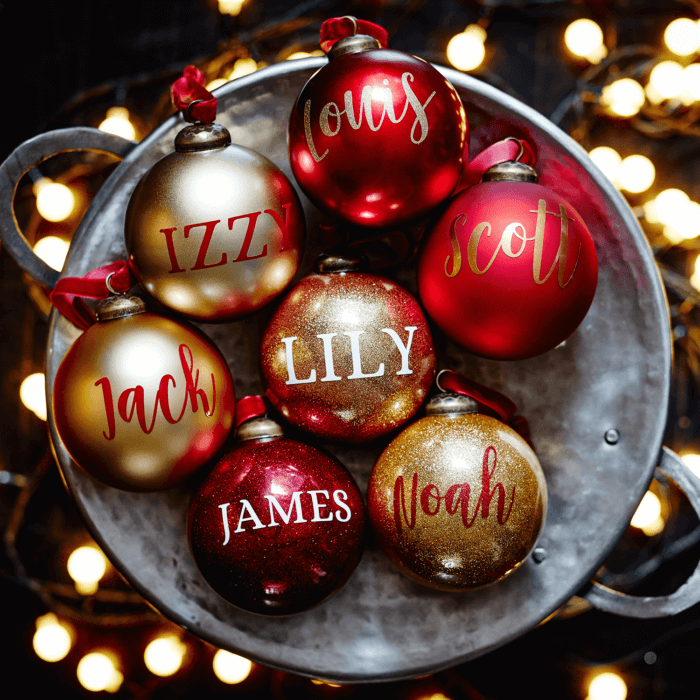 Metallic Red Personalised Bauble