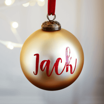 Matte Gold Personalised Bauble