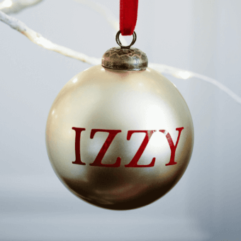Metallic Gold Personalised Bauble