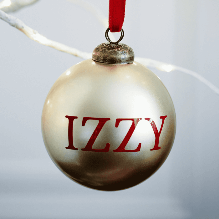 Metallic Gold Personalised Bauble BF