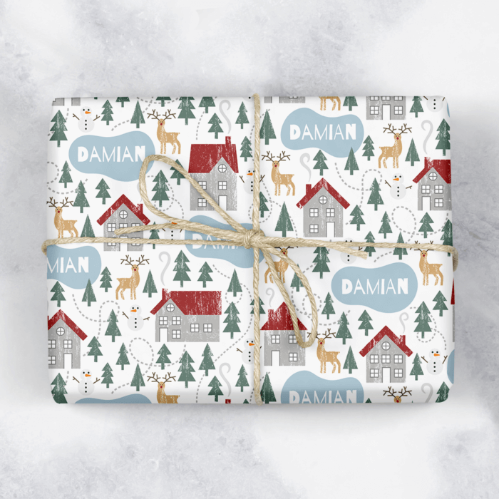 Winter Forest Personalised Gift Wrap