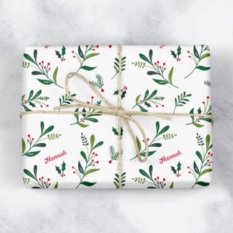 Mistletoe Personalised Gift Wrap