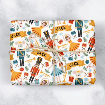 Nutcracker Personalised Gift Wrap