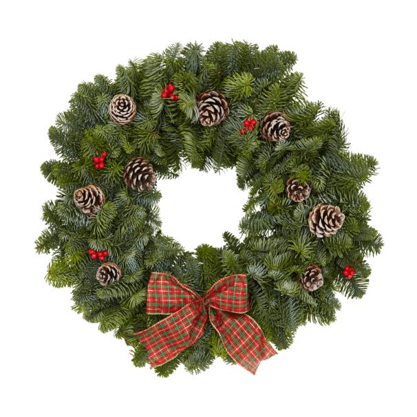 Tartan Wreath 40cm